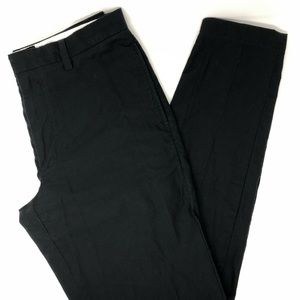Banana Republic Black Textured Pinstripe Pants